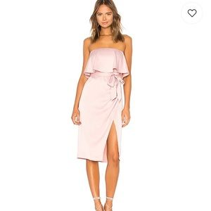 NWT Lovers + friends Violet Midi in Pink